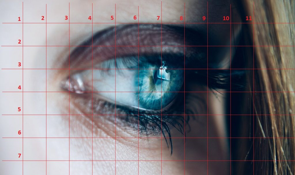 olho com grade 1024x610 - Desenhar Fácil em 4 Passos -  para iniciantes