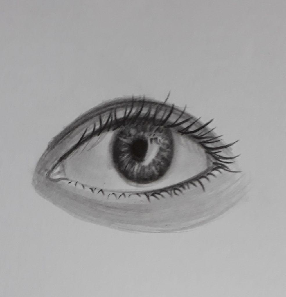 como desenhar olho completo sombreado 985x1024 - Como desenhar um olho num piscar de olhos