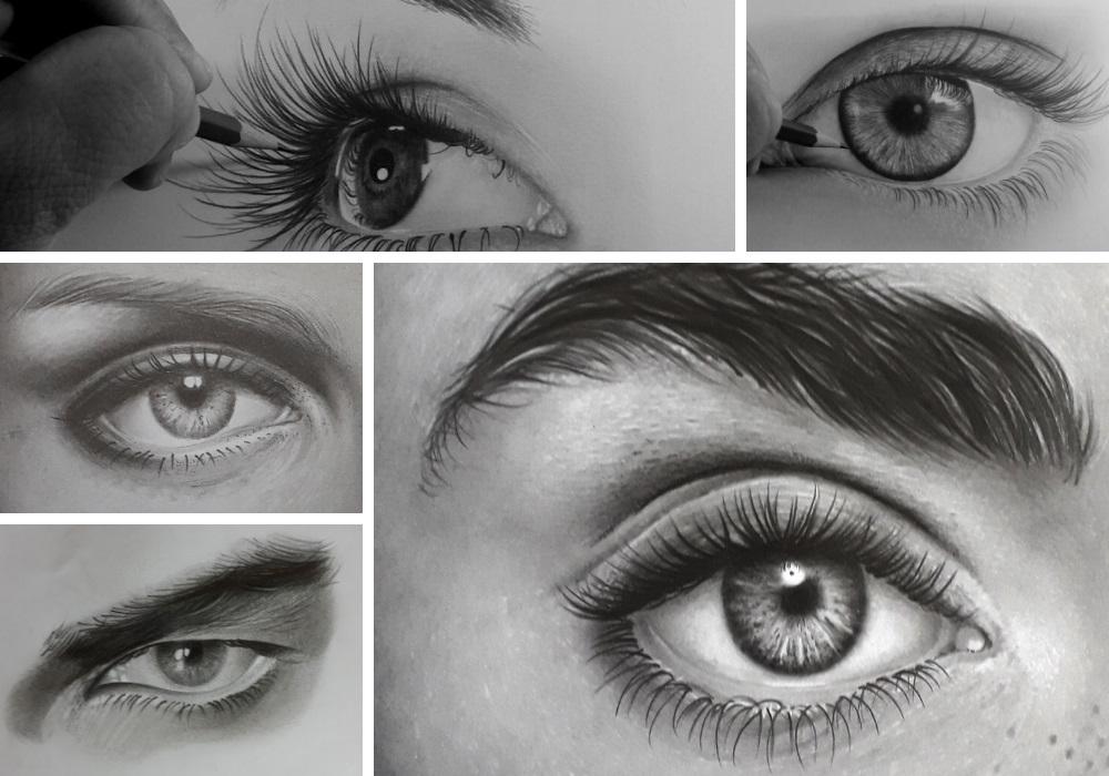 como desenhar olhos