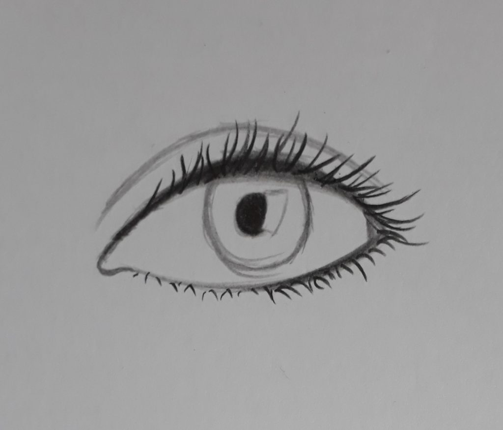 como desenhar olhos pupila 1024x875 - Como desenhar um olho num piscar de olhos