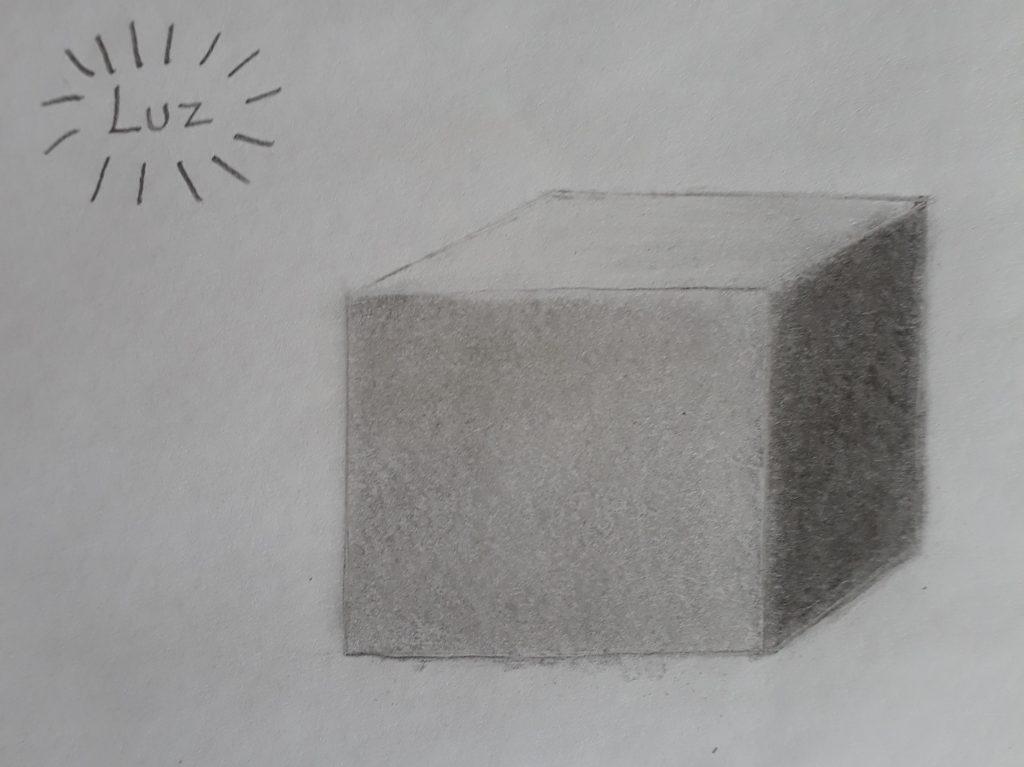 cubo sombreado 1024x767 - Desenhar 3D - Técnicas iniciais, Guia Definitivo