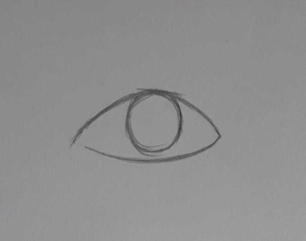 desenhando olho parte de baixo 1024x806 - Como desenhar um olho num piscar de olhos