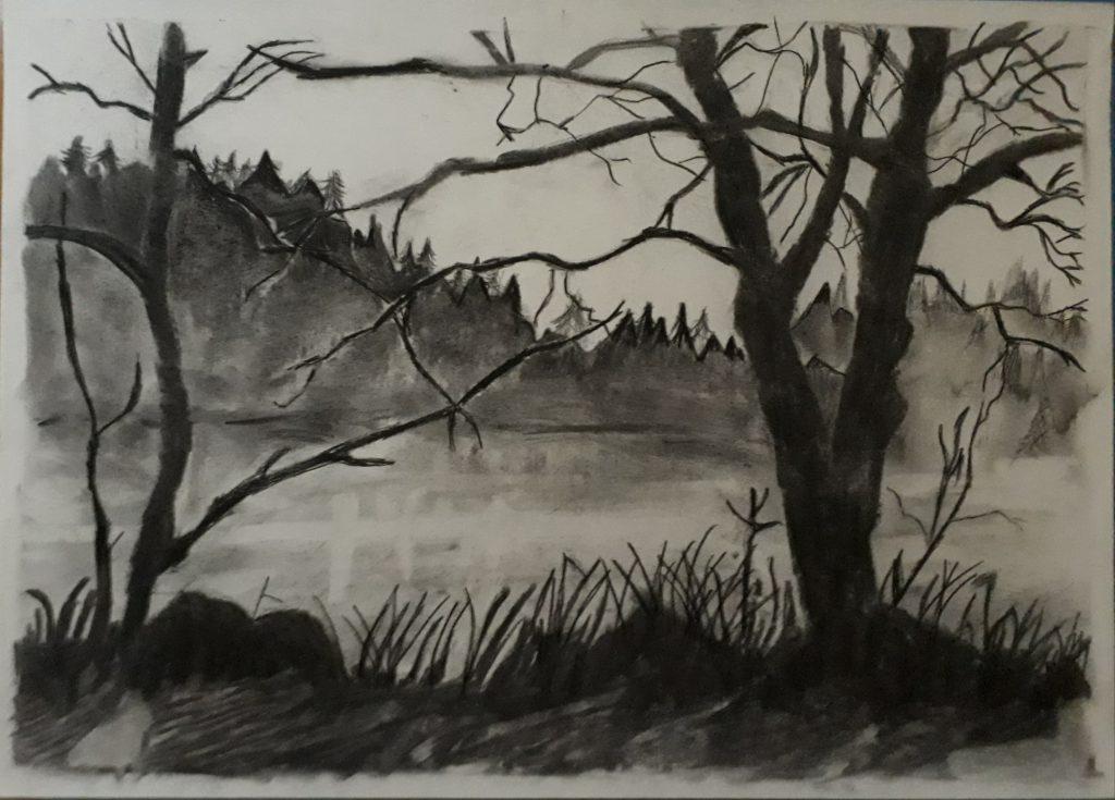 desenhar preto e branco