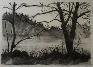 desenhar preto e branco desenho a carvao 1 300x215 - O Caminho da Arte