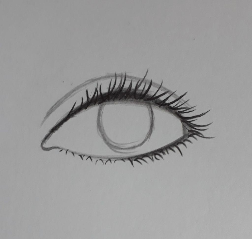 desenho de olho com cilios 1024x970 - Como desenhar um olho num piscar de olhos