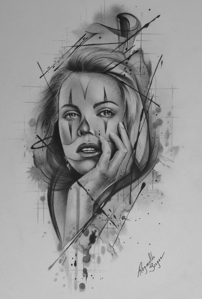 desenho para tatuagem reginaldo borges 690x1024 - CURSO DE DESENHO REALISTA PARA INICIANTES