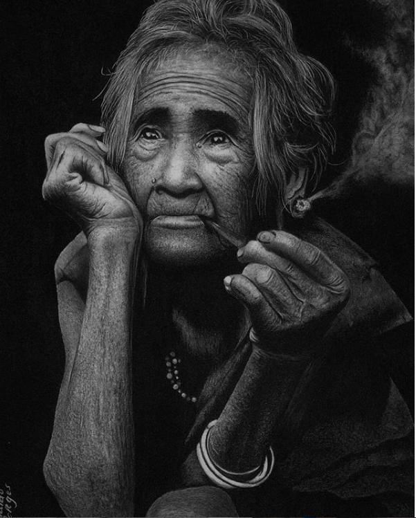 desenho preto e branco a carvão reginaldo artes - Desenhar preto e branco - as 3 Principais Formas