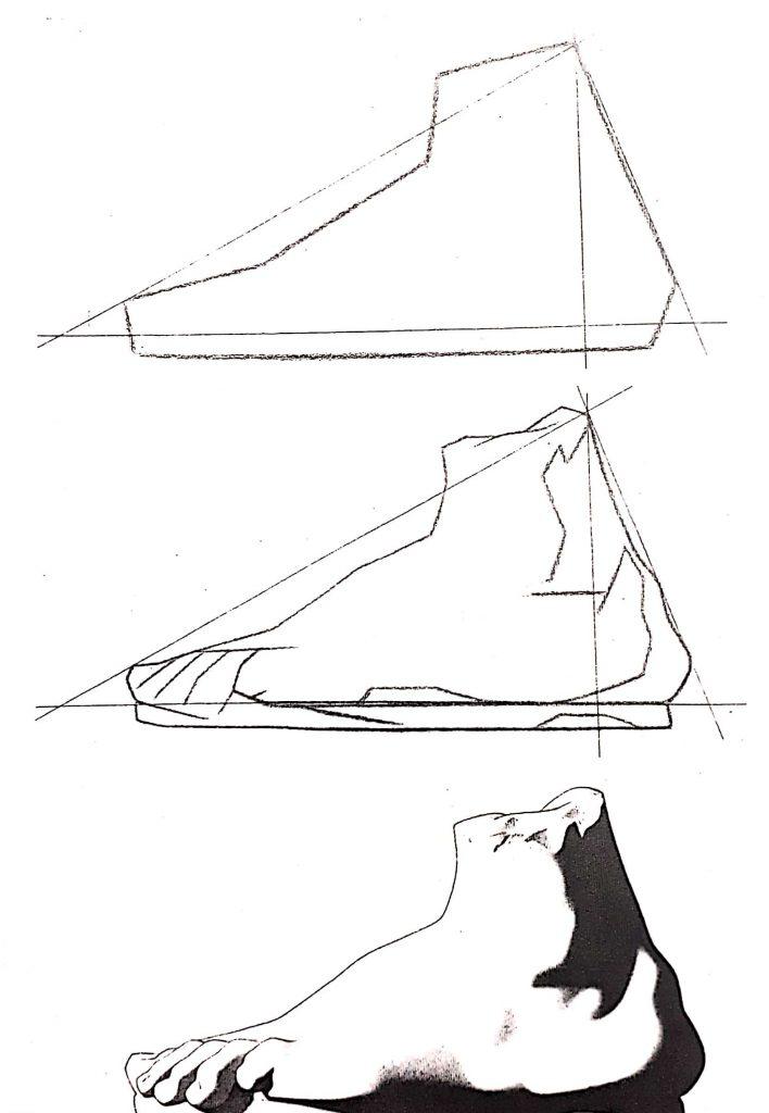 exercicios pé 1 708x1024 - Aprender a desenhar: esboço, uma etapa essencial