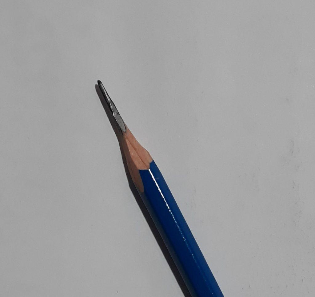 lapis de desenho apontado com estilete 1024x966 - Desenhar 3D - Técnicas iniciais, Guia Definitivo