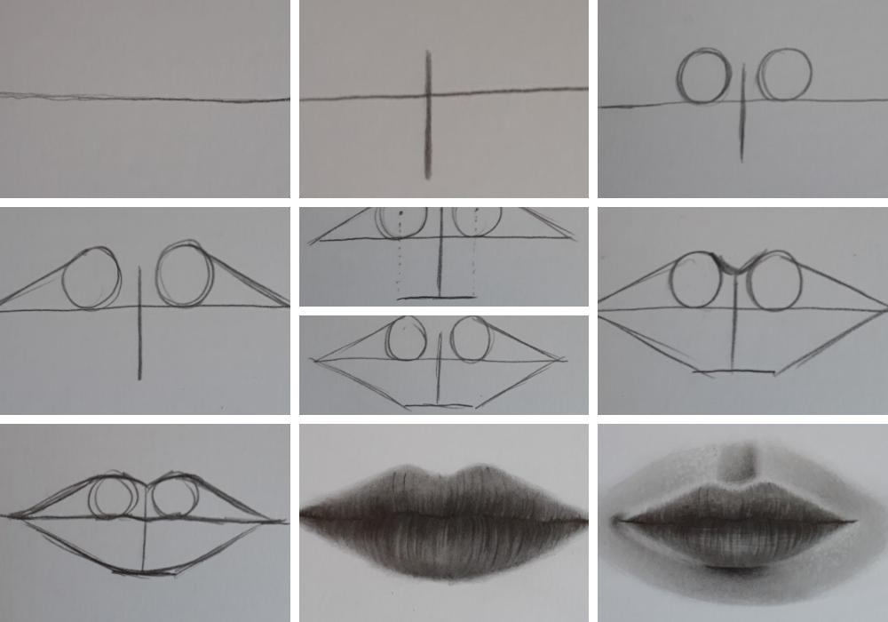 como desenhar boca