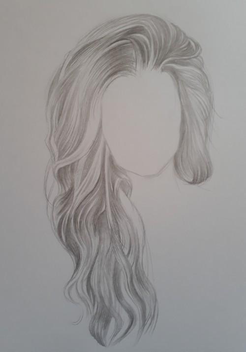 como desenhar cabelo 1 - Como desenhar cabelo realista sem dificuldade