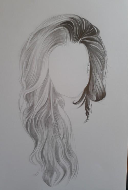como desenhar cabelo 2 - Como desenhar cabelo realista sem dificuldade