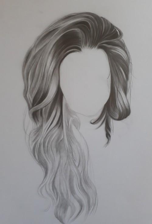 como desenhar cabelo 3 - Como desenhar cabelo realista sem dificuldade