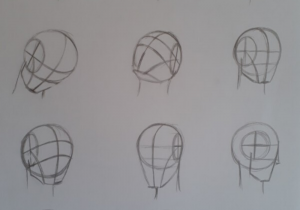 como desenhar rosto metodo de Loomis 300x210 - O Caminho da Arte