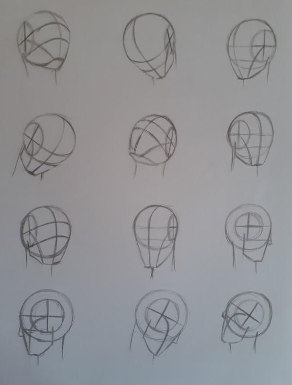como desenhar rostos usando o método de Loomis - Como desenhar rosto - tutorial método Loomis parte 1