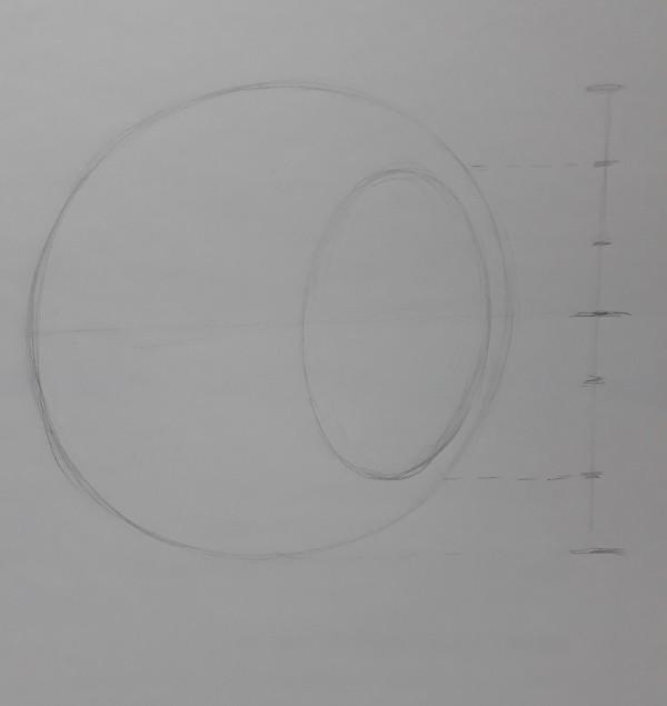 metodo de loomis 2 - Como desenhar rosto - tutorial método Loomis parte 1
