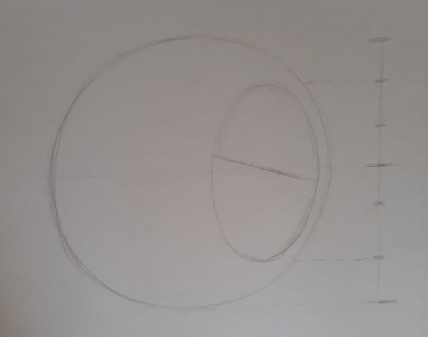 metodo de loomis 3 - Como desenhar rosto - tutorial método Loomis parte 1