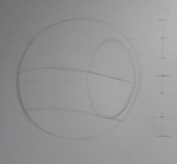 metodo de loomis 4 - Como desenhar rosto - tutorial método Loomis parte 1