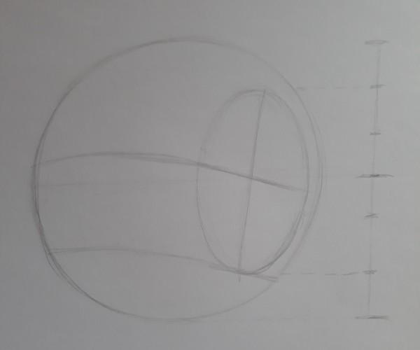 metodo de loomis 5 - Como desenhar rosto - tutorial método Loomis parte 1
