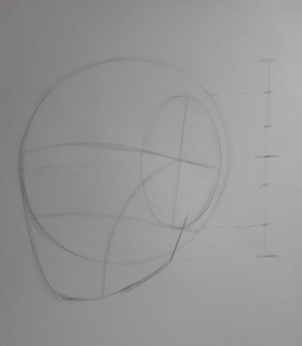 metodo de loomis 7 - Como desenhar rosto - tutorial método Loomis parte 1