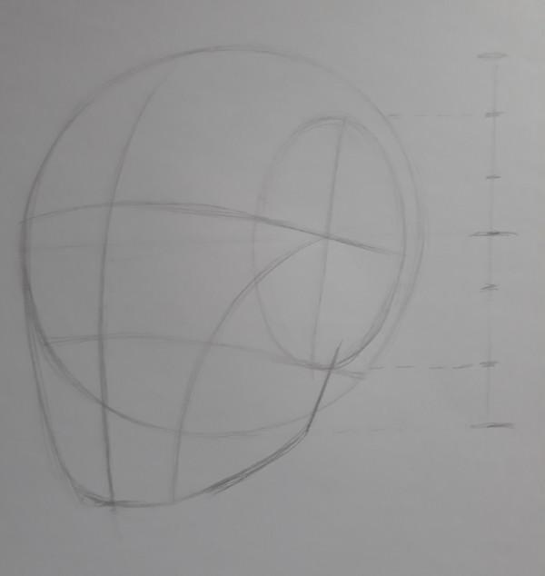 metodo de loomis 8 - Como desenhar rosto - tutorial método Loomis parte 1