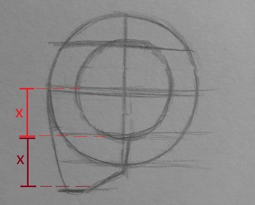 como desenhar rosto 4 - Como desenhar rosto - tutorial método Loomis parte 2