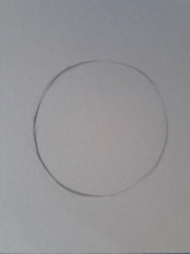 loomis frontal passo 1 rotated - Como desenhar rosto de frente em 13 passos: método Loomis parte 3