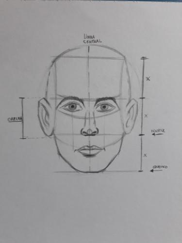 loomis frontal passo 10 - Como desenhar rosto de frente em 13 passos: método Loomis parte 3