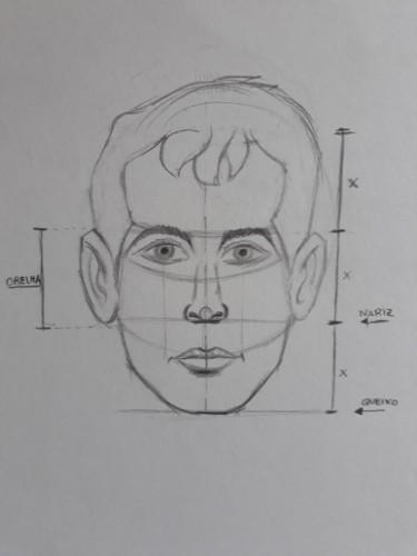 loomis frontal passo 11 - Como desenhar rosto de frente em 13 passos: método Loomis parte 3