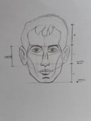 loomis frontal passo 12 - Como desenhar rosto de frente em 13 passos: método Loomis parte 3