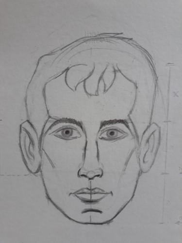 loomis frontal passo 13 - Como desenhar rosto de frente em 13 passos: método Loomis parte 3