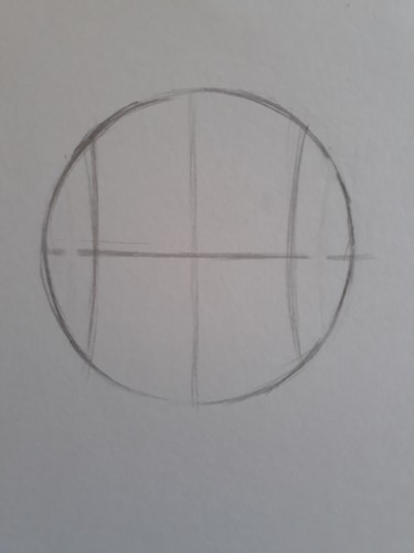 loomis frontal passo 2 - Como desenhar rosto de frente em 13 passos: método Loomis parte 3