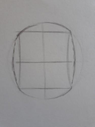 loomis frontal passo 4 - Como desenhar rosto de frente em 13 passos: método Loomis parte 3