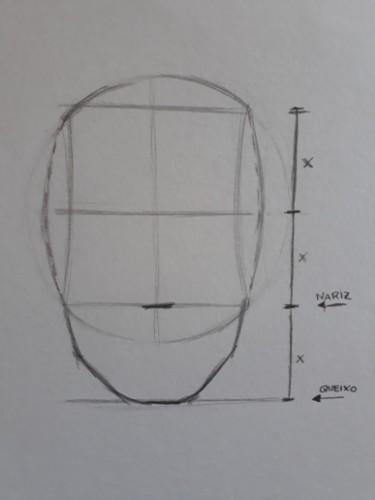 loomis frontal passo 6 - Como desenhar rosto de frente em 13 passos: método Loomis parte 3