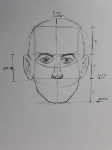 loomis frontal passo 9 - Como desenhar rosto de frente em 13 passos: método Loomis parte 3