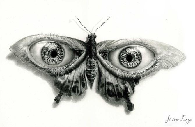 Desenho de inseto Jono Dry - 7 Inspirações inovadoras de coisas bonitas para desenhar