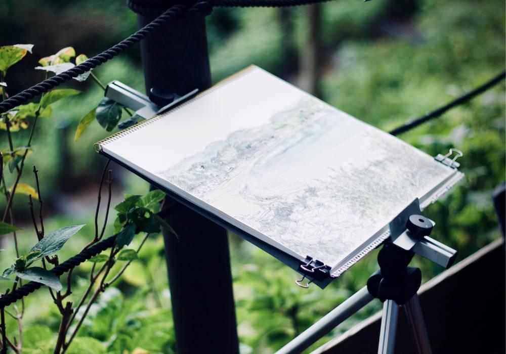como desenhar paisagem