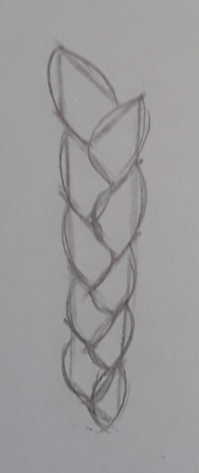 como desenhar trança passo 4 - Como desenhar trança passo a passo descomplicado