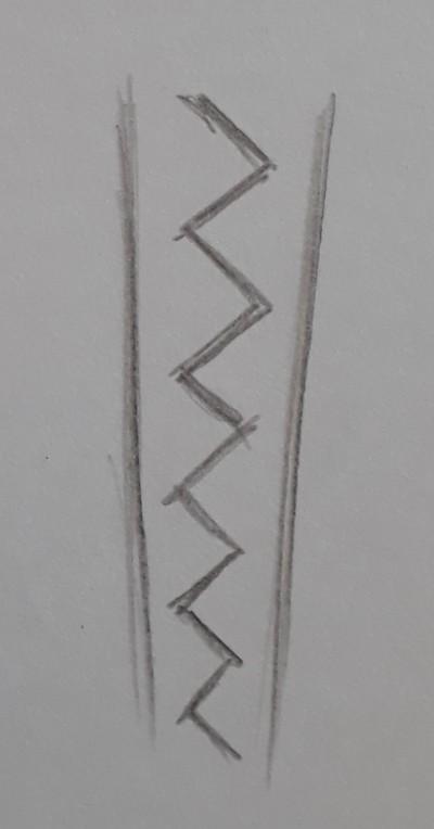 como desenhar tranca passo 2 - Como desenhar trança passo a passo descomplicado