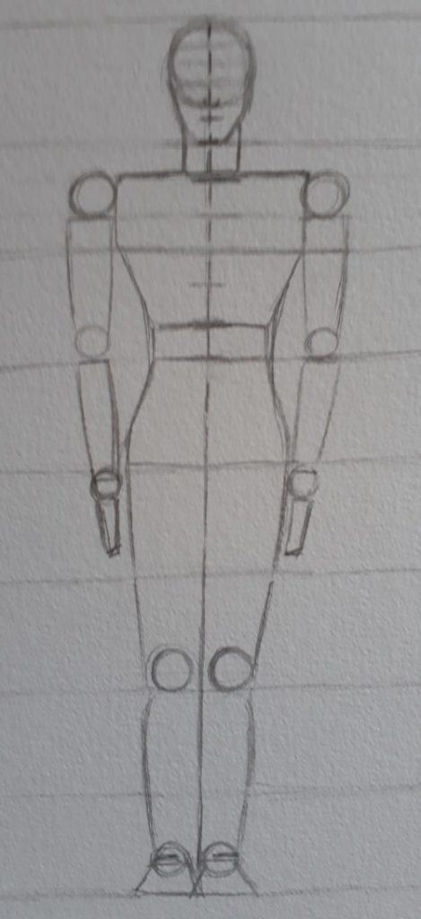 desenhar corpo passo 8 469x1024 - Como desenhar o corpo humano em 8 etapas rápidas