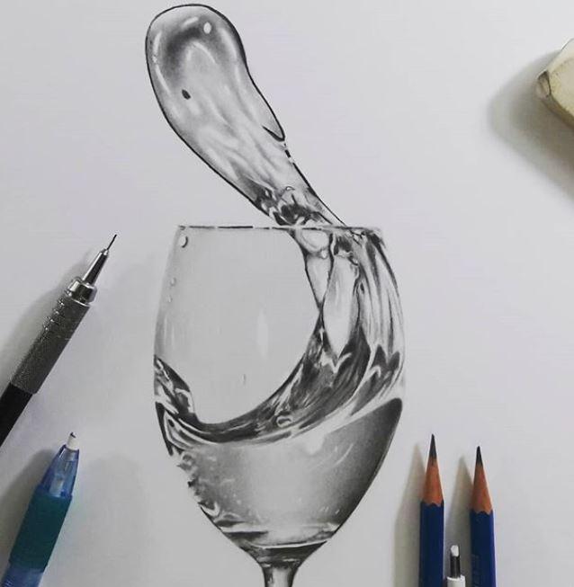 desenho de agua - 7 Inspirações inovadoras de coisas bonitas para desenhar