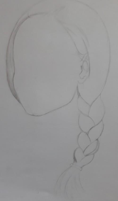 desenho esboço trança - Como desenhar trança passo a passo descomplicado