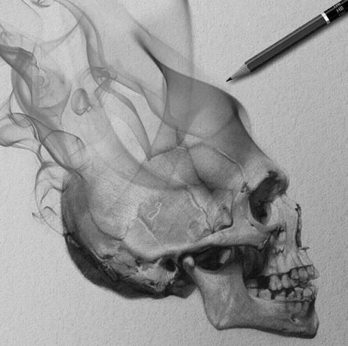 desenho realista de caveira - 7 Inspirações inovadoras de coisas bonitas para desenhar