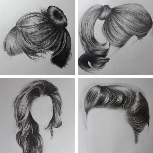 desenhos de cabelos - 7 Inspirações inovadoras de coisas bonitas para desenhar