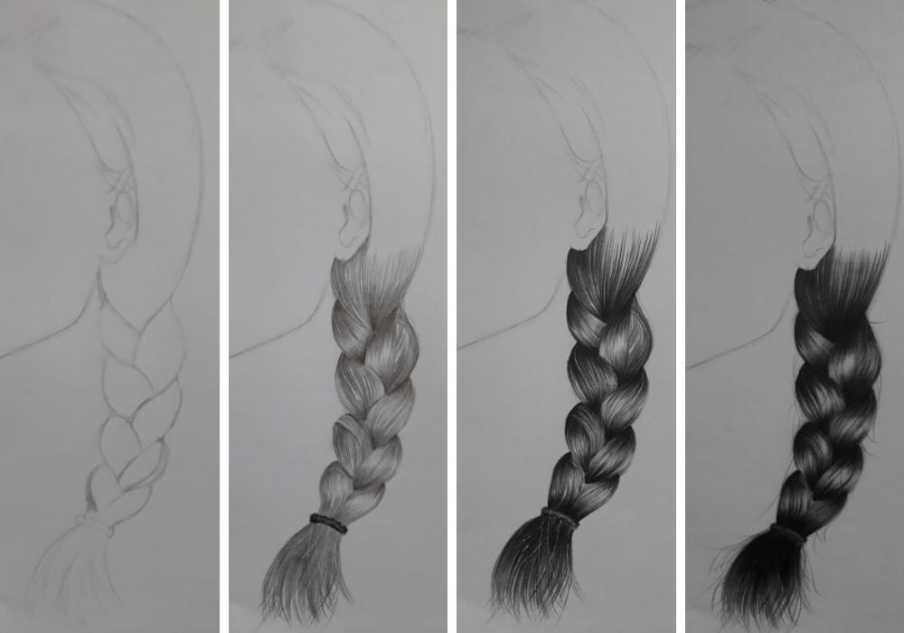 como desenhar trança
