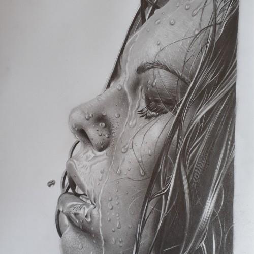 rosto feminino molhado como desenhar agua - Como desenhar água de 2 maneiras distintas