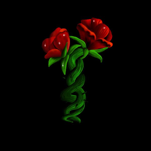rosas entrelacadas - Como ganhar dinheiro com arte - Print on Demand funciona?