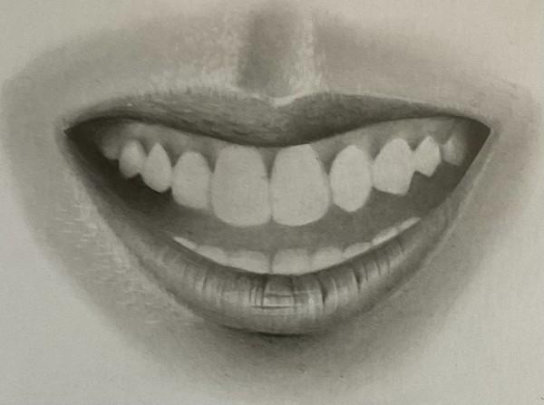 como desenhar dentes 11 - Como desenhar um dente realista - rápido, fácil e simples