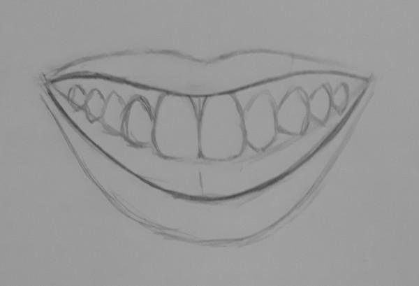 como desenhar dentes 4 - Como desenhar um dente realista - rápido, fácil e simples