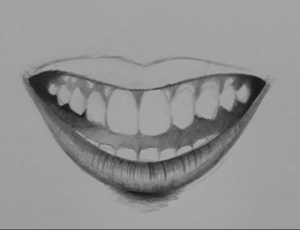como desenhar dentes 7 - Como desenhar um dente realista - rápido, fácil e simples